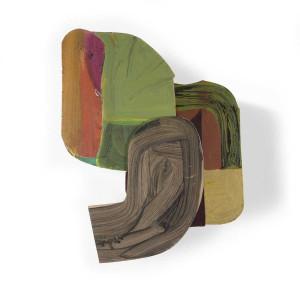 Paume, 2006, 40 x 35 x 10 cm, acrylique sur bois découpés