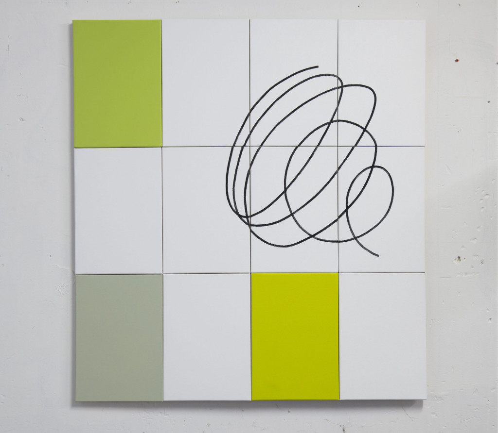 Geoffroy Gross, acrylique sur toile, 105 x 96 cm, polyptyque - 2016