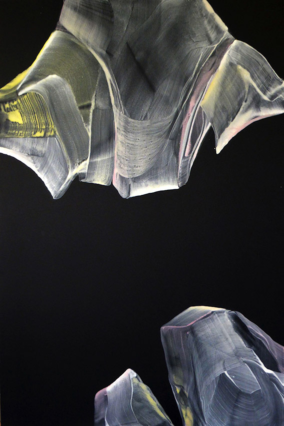 Anne Jallais - Les Combats6, 130X100, acrylique sur toile, 2015