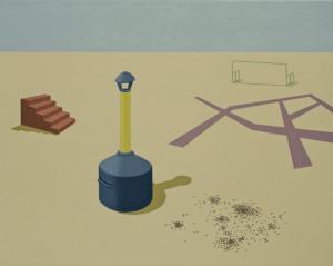 Olivier Alibert, Zone activée, 2016, huile sur toile, 73 x 92 cm