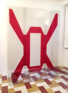 Rouge R2Vb, 2018, impression sur Duraclear, 250 x 320 cm