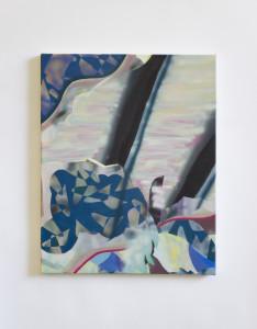 Thomas Auriol, Sans titre, 2018, Acrylique sur toile, 40 x 50 cm