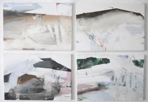 Nicolas Desplats, 2016-2018, Quadriptyque, Acrylique sur toile, 55 x 38 cm