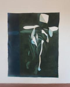 quand le danseur disparaît, huile sur toile libre, 200 x 150 cm, 2019