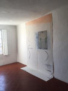 le geste porté, huile sur toile libre, 200 x 300 cm, 2019