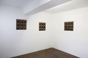 Diamants, 2020, encre sur bois, découpe, 48 x 42 cm - La Vigie
