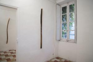 Sans titre, 2019, encre sur bois, découpe, 174 x 07 x 7cm - La Vigie